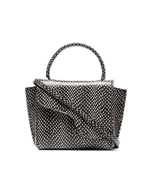 00df14a90fd77a Atp Atelier - Black And White Montalcino Dot Snake Print Leather Crossbody  Bag - Lyst ...