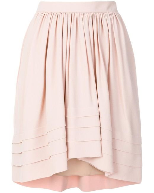 Chloé - Pink Flared Asymmetric Skirt - Lyst