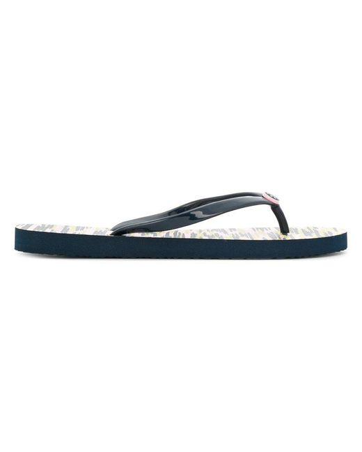 Tory Burch - Blue Thin Flip-flops - Lyst