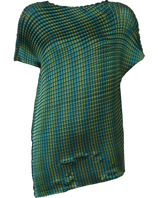 lyst issey miyake pleated t shirt in green