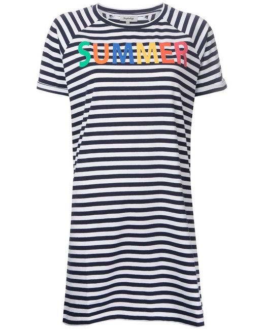 Yazbukey | Blue Summer T-shirt Dress | Lyst
