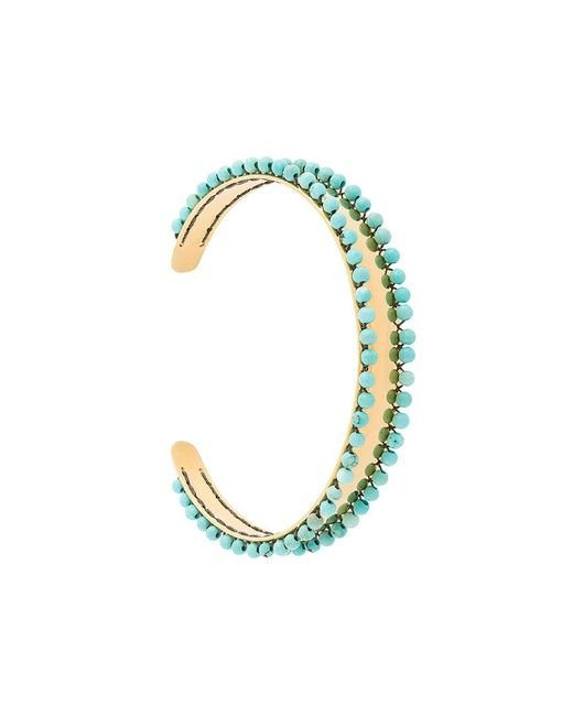 Isabel Marant - Blue Beaded Cuff - Lyst