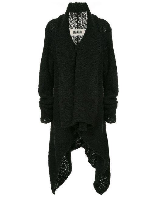 Uma Wang - Black Knitted Shawl Jacket - Lyst