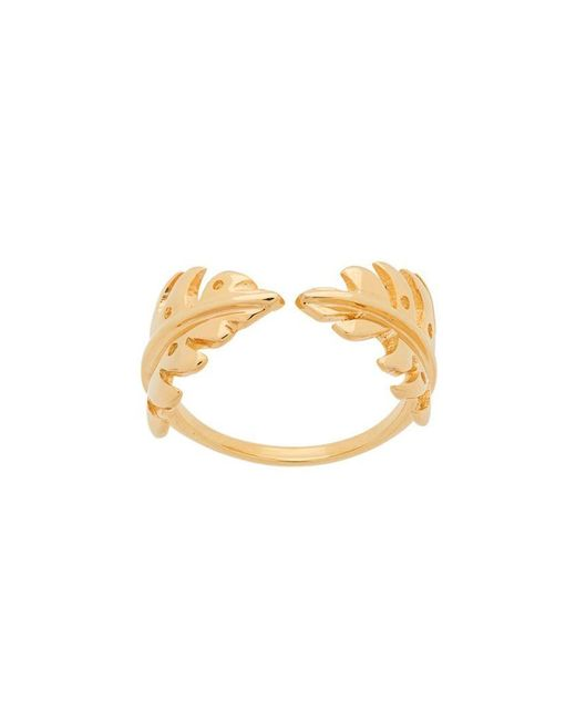Aurelie Bidermann - Metallic Leaf Open Ring - Lyst