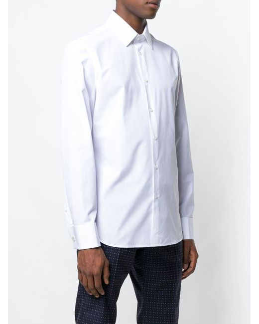 32513dc468c ... Gucci - White Classic Plain Shirt for Men - Lyst ...