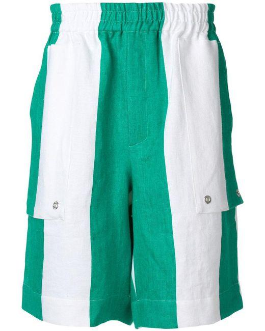 Etudes Studio - White Striped Elasticated Waist Shorts for Men - Lyst