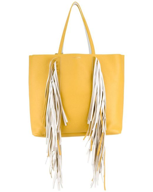 Sara Battaglia - Yellow Everyday Fringed Shopper Tote - Lyst