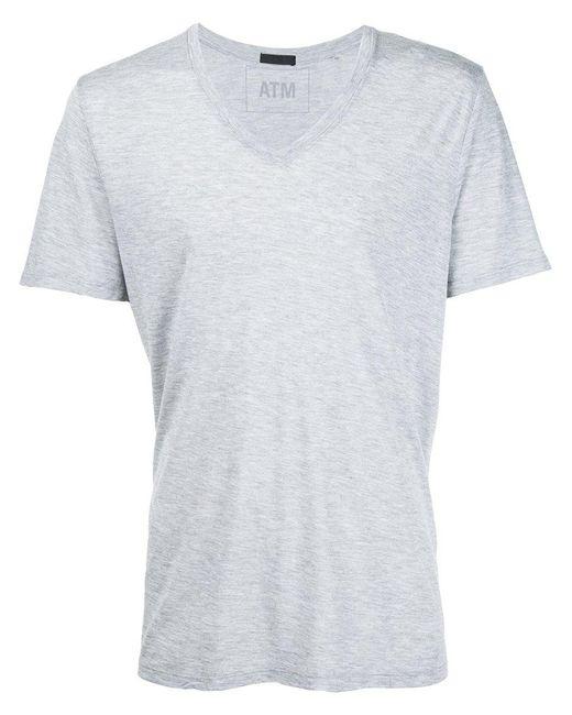 ATM | Gray Lightweight V-neck Jersey T-shirt for Men | Lyst