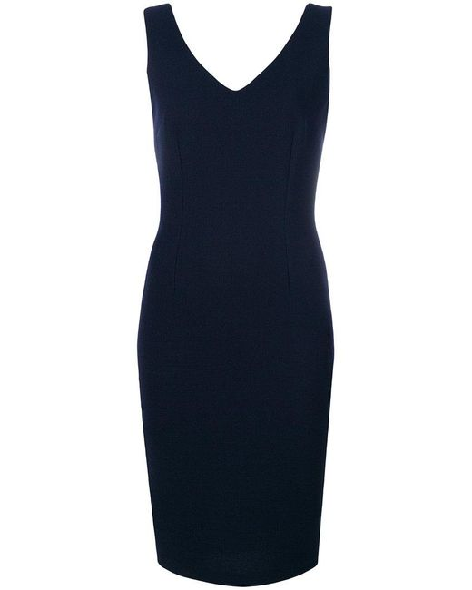 Styland - Blue Fitted Dress - Lyst