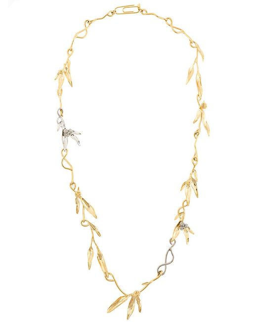 Aurelie Bidermann - Metallic Mimosa Sautoir Necklace - Lyst