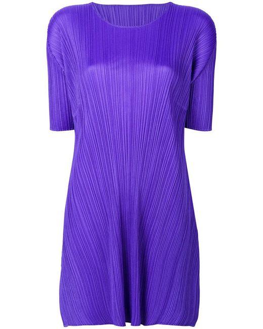 Pleats Please Issey Miyake | Purple Pleated Texture Elongated T-shirt | Lyst