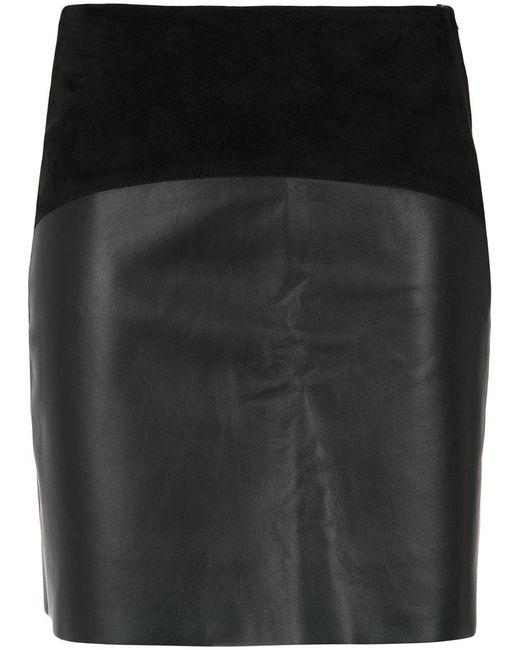 Egrey | Black Panelled Skirt | Lyst