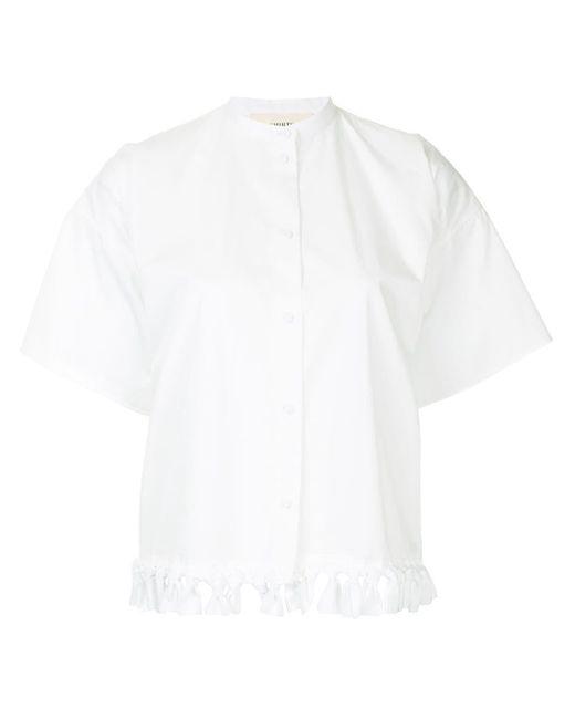 Ports 1961 White Fringed Shortsleeved Shirt