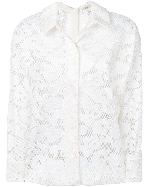 Dorothee Schumacher - White Floral Pattern Shirt Jacket - Lyst