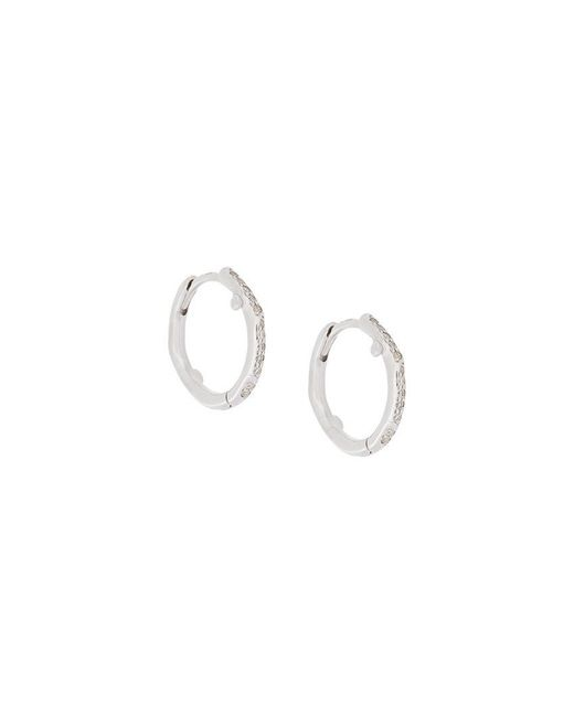 Shaun Leane - Metallic 'cherry Branch' Diamond Hoop Earrings - Lyst
