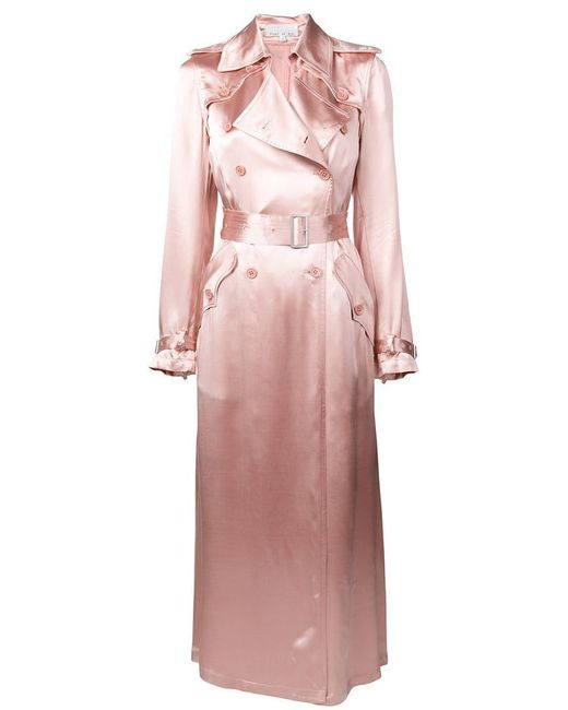 Fleur du Mal - Pink Classic Fitted Trench Coat - Lyst