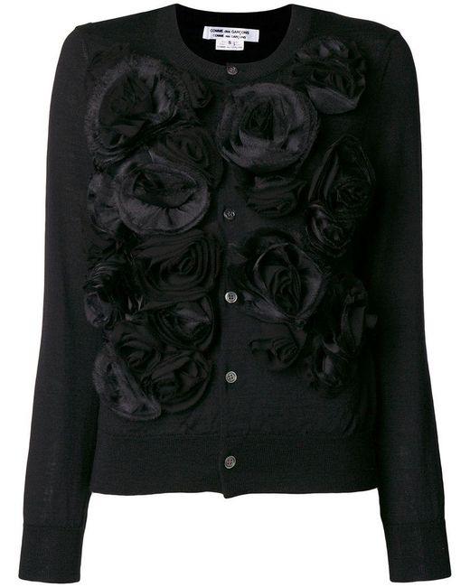 Comme des Garçons - Black Ruffle Appliqué Longsleeved T-shirt - Lyst