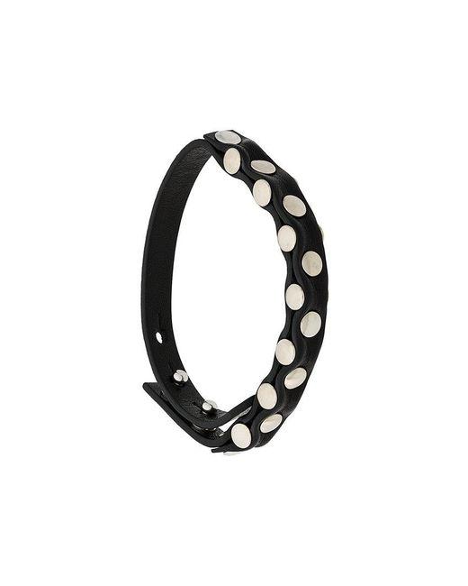 Ann Demeulemeester - Black Studded Bracelet - Lyst