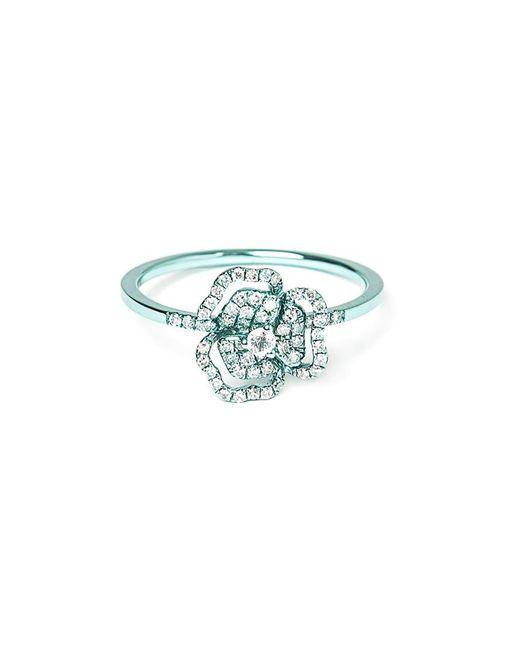 AS29 - Blue Diamond Flower Ring - Lyst