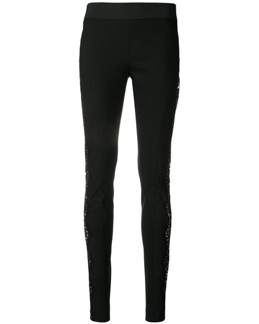 Stella McCartney - Black Lace-embellished leggings - Lyst