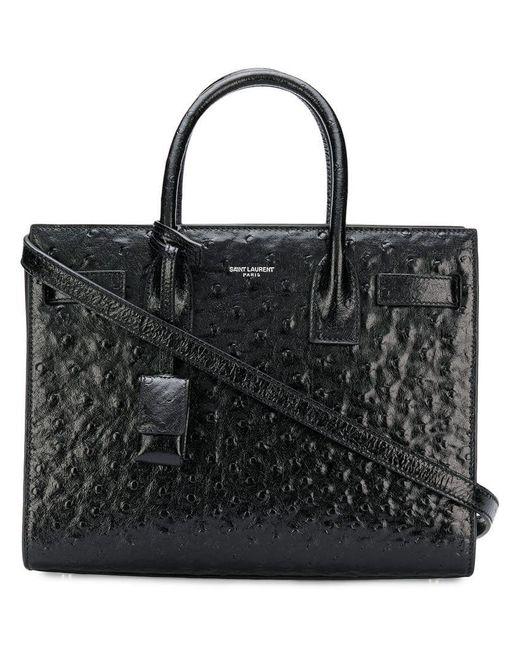 533d0e60ee375 Saint Laurent - Black Sac De Jour Tote Bag - Lyst ...