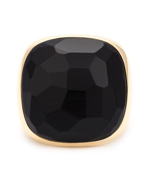 Pomellato | Metallic Square Jet Ring | Lyst