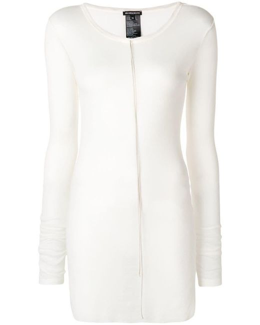 Ann Demeulemeester - White Fine Knit Mid-length Sweater - Lyst