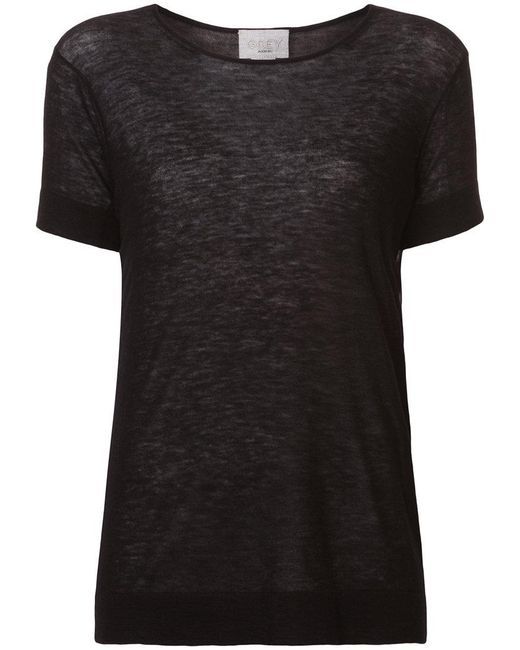 Jason Wu - Black Short-sleeve Fitted Sweater - Lyst