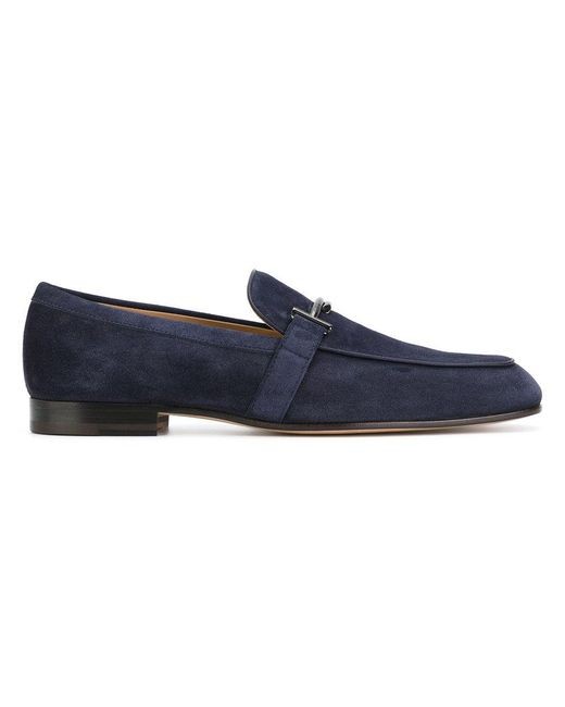 Tod's | Blue Buckled Loafers for Men | Lyst