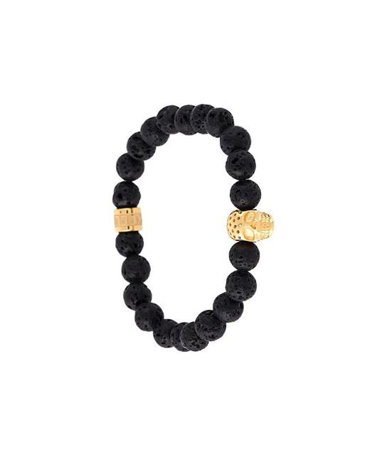 Northskull - Black Beaded Skull Bracelet for Men - Lyst