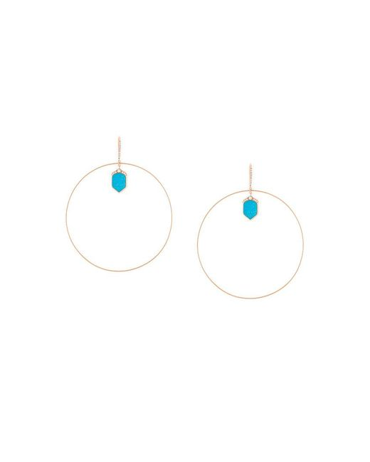 Joelle Jewellery - Metallic Lapis And Diamond Set Hoop Earrings - Lyst