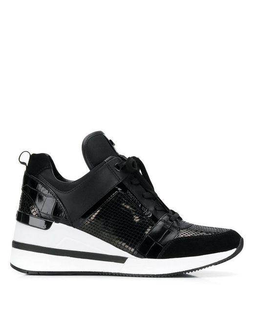 62df9977b3d MICHAEL Michael Kors - Black Georgie Sneakers - Lyst ...