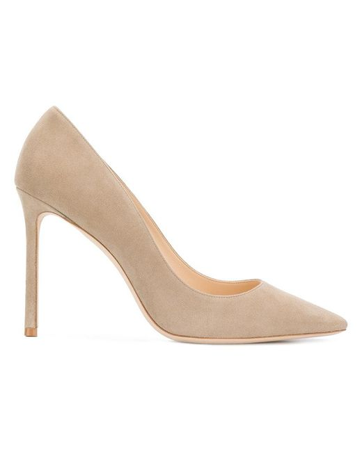 Jimmy Choo - Natural Suede Classic Pumps - Lyst