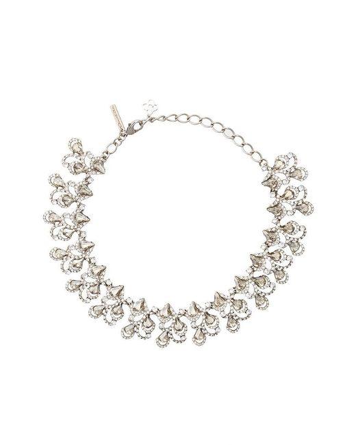 Oscar de la Renta | Metallic Baroque Crystal Necklace | Lyst