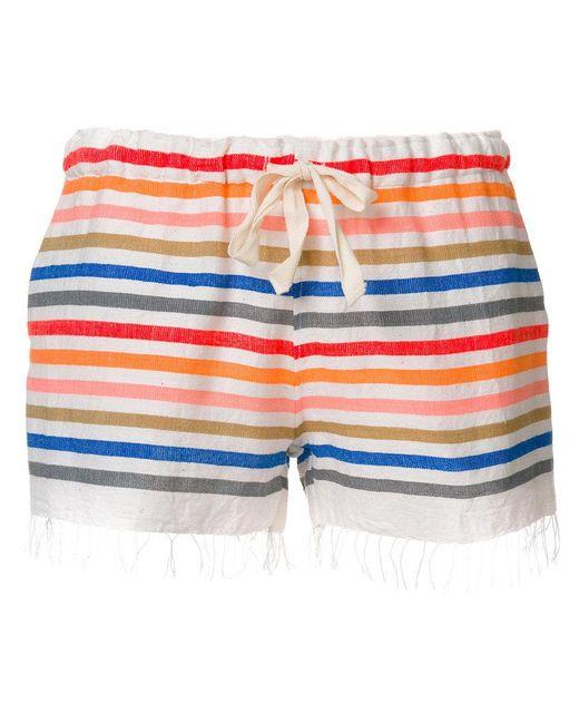 Lemlem | Multicolor Striped Shorts | Lyst