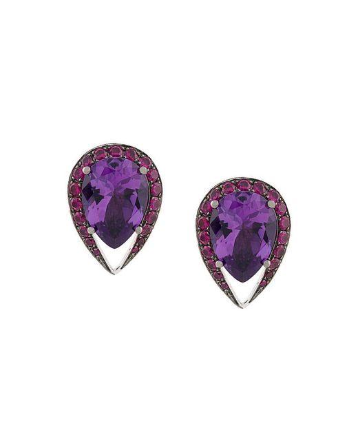 Shaun Leane - Purple Aurora Stud Earrings - Lyst