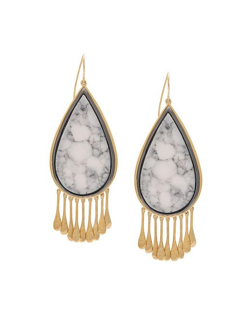 Aurelie Bidermann | Metallic Drop-shaped Earrings | Lyst