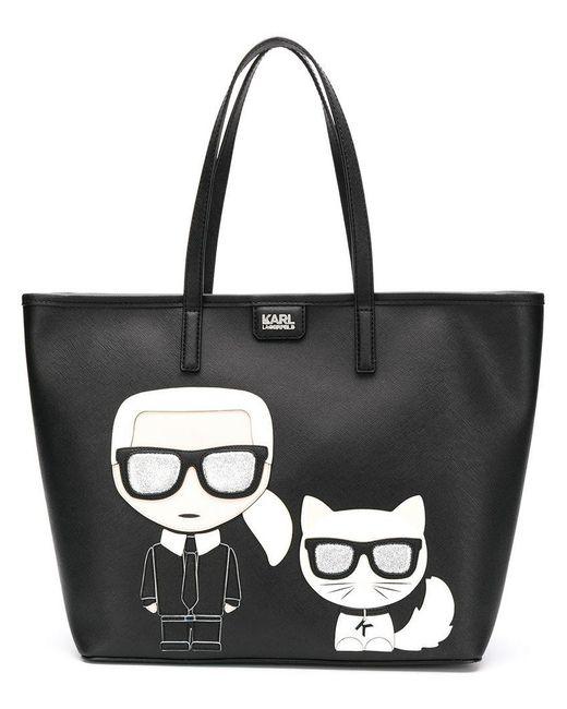 Karl Lagerfeld - Black K/ikonik Shopper Bag - Lyst