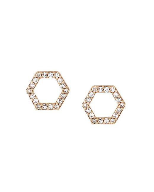 Astley Clarke | Metallic 'honeycomb' Diamond Stud Earrings | Lyst