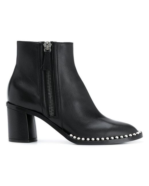 Casadei studded sole ankle boots - Negro 4cVeOOiVp