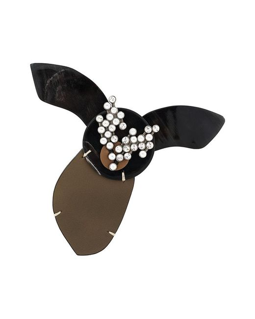 Marni | Black Embellished Animal Brooch | Lyst