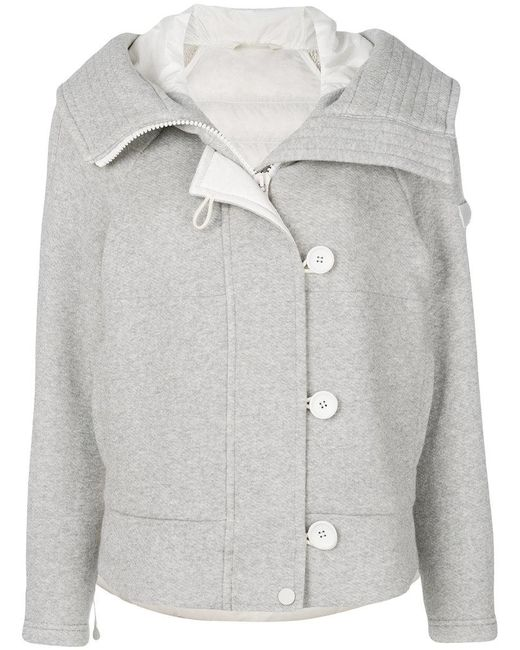 Peuterey - Gray Padded Buttoned Jacket - Lyst