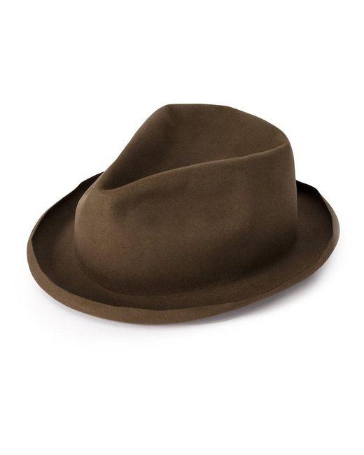 Horisaki Design & Handel - Brown Moulded Fedora Hat for Men - Lyst