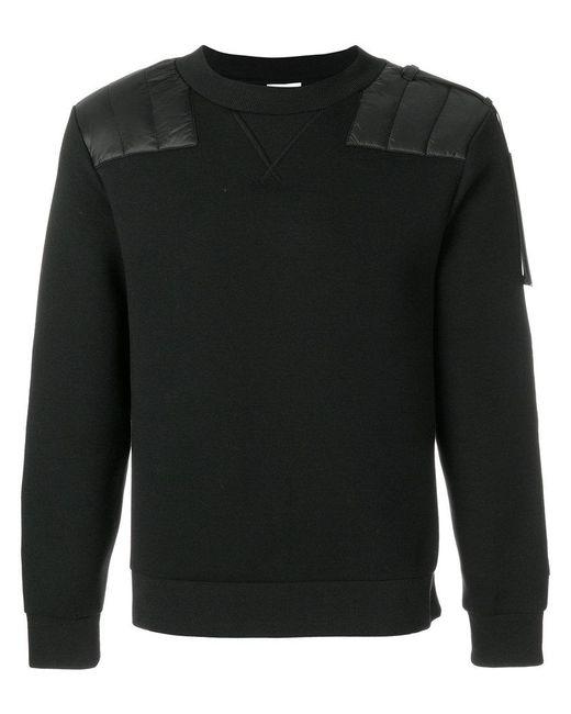 Moncler - Black Shoulder Panel Jumper for Men - Lyst