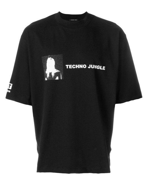 Helmut lang techno jungle t shirt in black for men lyst for Helmut lang t shirt