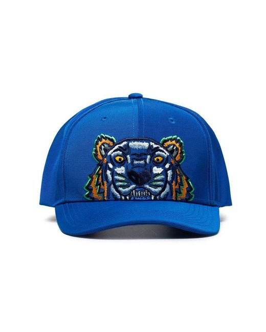 KENZO - Blue Tiger Embroidered Logo Cap for Men - Lyst