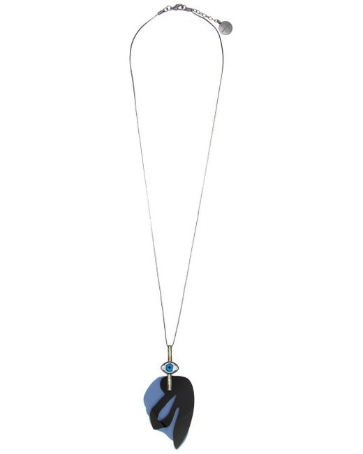 Camila Klein - Metallic Pendant Long Necklace - Lyst