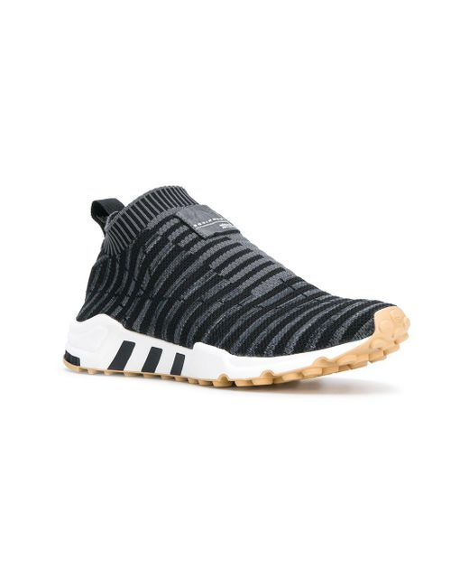 new product 32995 3183d ... Adidas - Gray Eqt Support Sock Primeknit Sneakers - Lyst ...