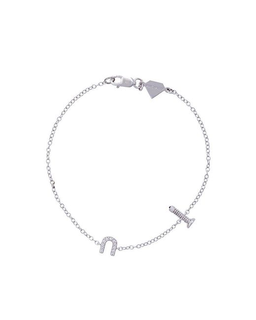 Alison Lou | Metallic Screw U Bracelet | Lyst