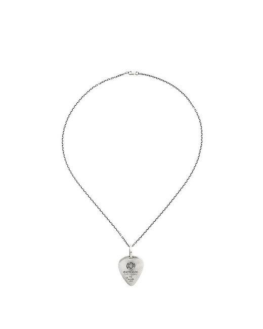 Yohji Yamamoto - Metallic Silver Signature Plectrum Necklace for Men - Lyst